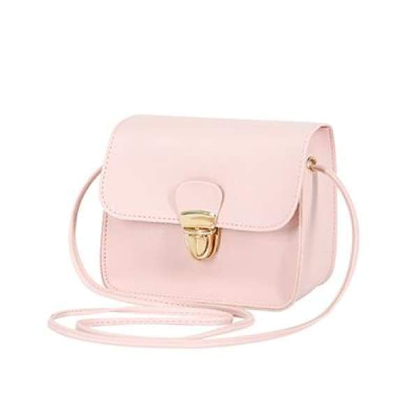 Casual PU Leather Flap Handbags - New Pink