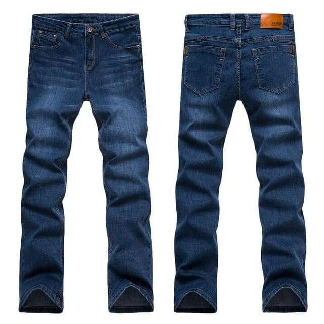 Casual Slim Straight High Elasticity Feet Jeans - Blue 1682 / 28