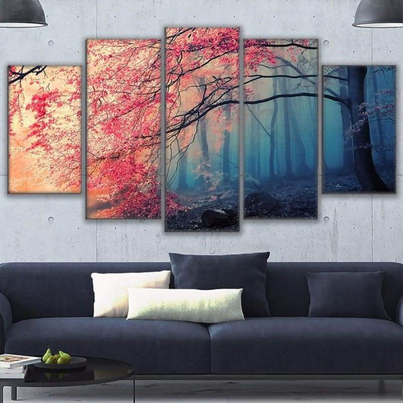 Cherry Blossom HD Print Canvas 5 PCS/Set - 10x15 10x20 10x25cm / No Frame