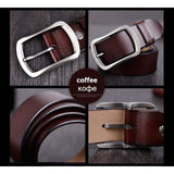 Cowhide Genuine Leather Belts - CY002 coffee / 100cm