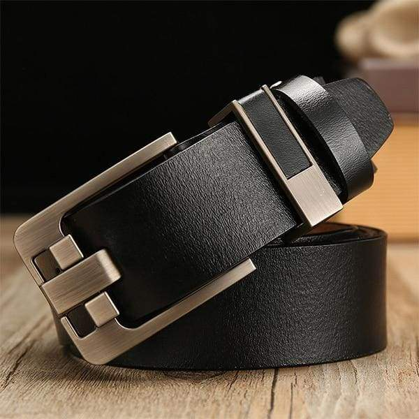 DWTS Luxury Pin Buckle Leather Belt - B black / 90cm
