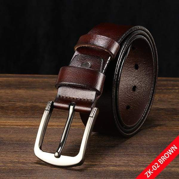 DWTS Luxury Pin Buckle Leather Belt - C coffee / 90cm