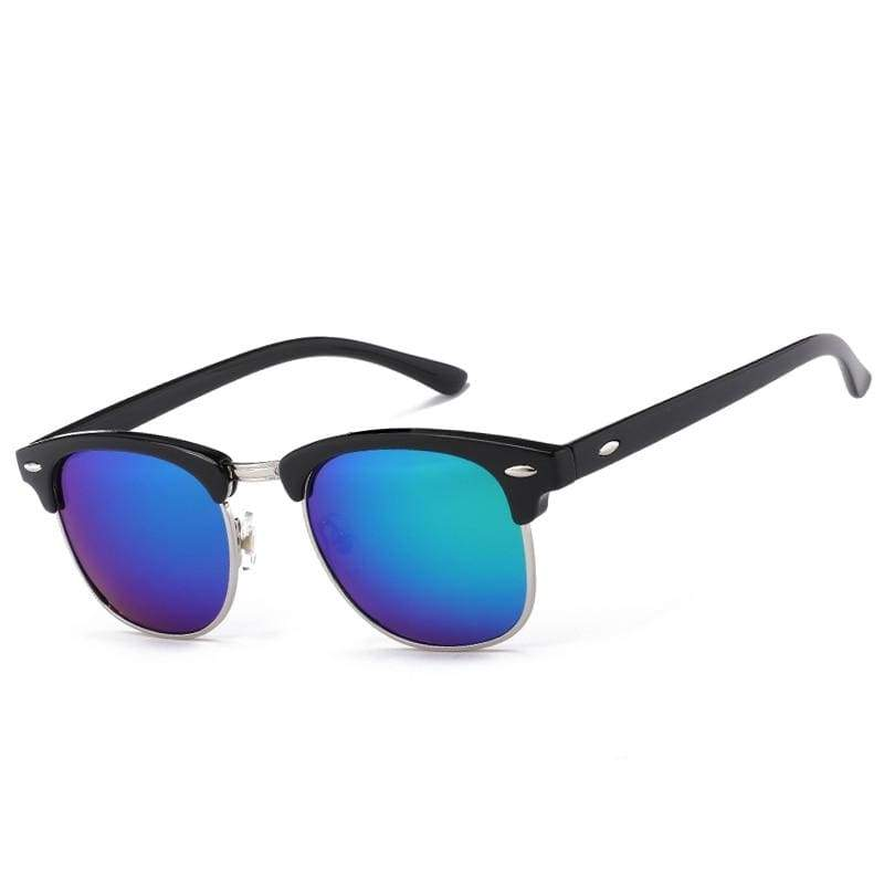 Half Metal Round Mirror Sunglasses