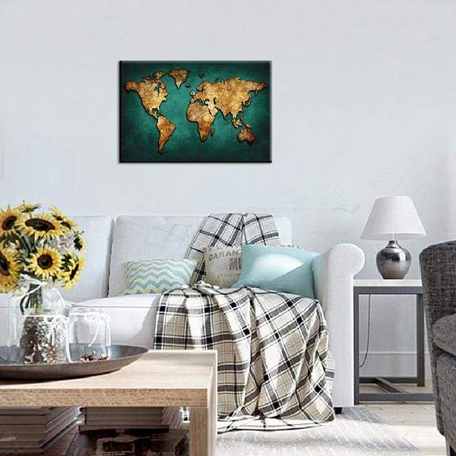 Huge World Map Print On Canvas 1 PCS/Set - 12X18 / A1099