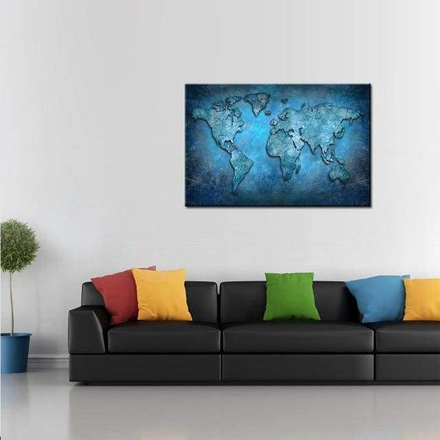 Huge World Map Print On Canvas 1 PCS/Set - 12X18 / A1101