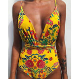 Low Waist Backless Brazilian One Piece Monokini - FR181307 / S