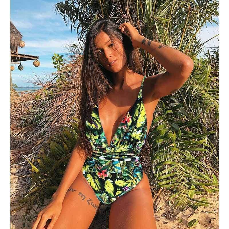 Low Waist Backless Brazilian One Piece Monokini