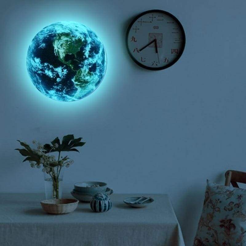 Luminous Blue Earth Florescent Wall Sticker