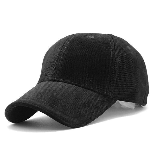 Luxury Velvet Sport Trucker Cap - Black