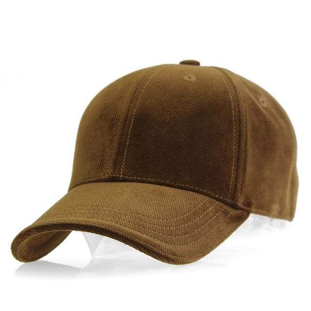 Luxury Velvet Sport Trucker Cap - Brown