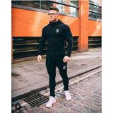 Mens Fashion Sportswear Tracksuits - black 1 / M