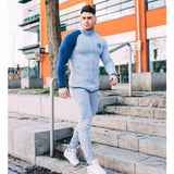 Mens Fashion Sportswear Tracksuits - Light grey / M