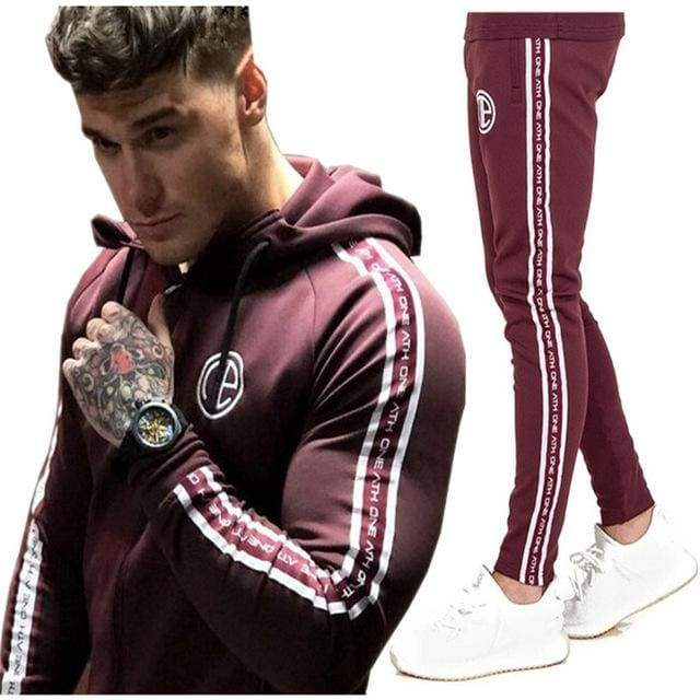 Mens Fashion Sportswear Tracksuits - purple / M