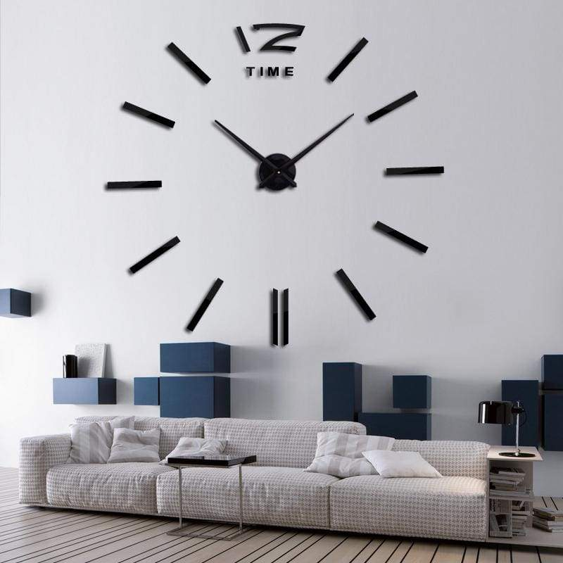 Metallic 3D Acrylic Quartz Wall Clock