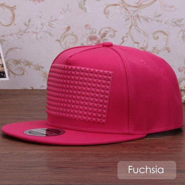 New Fancy Stylish 3D Snapback - Fuchsia / Kids Size