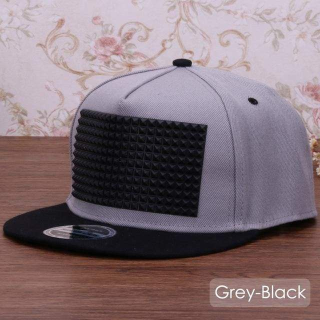 New Fancy Stylish 3D Snapback - Grey Black / Kids Size