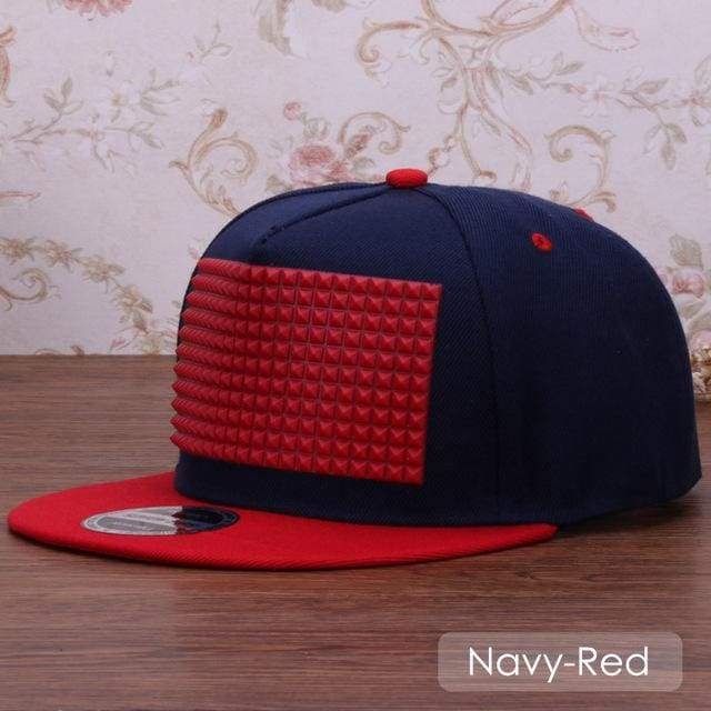 New Fancy Stylish 3D Snapback - Navy Red / Kids Size