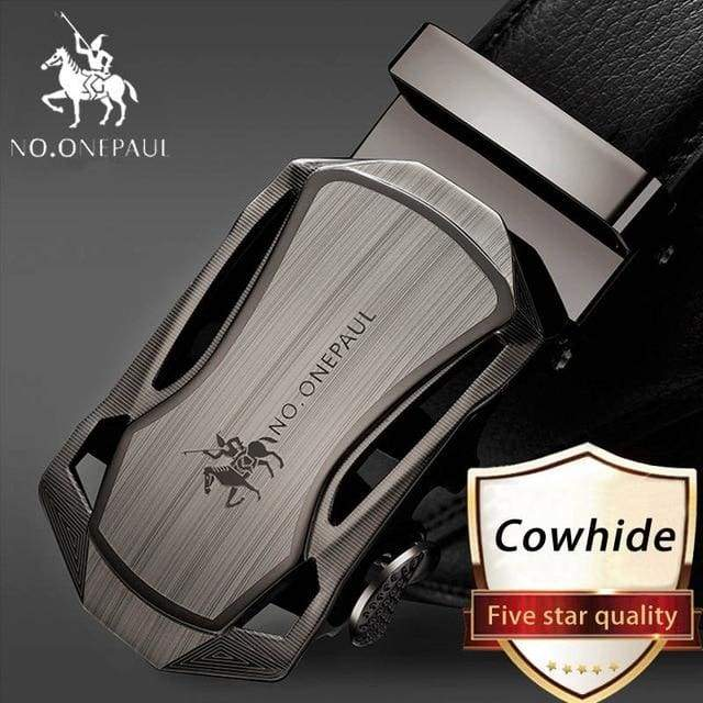NO.ONEPAUL Automatic Buckle Genuine Leather Belts - CA / 100cm