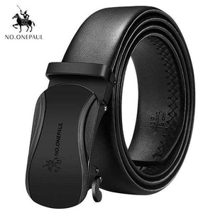 NO.ONEPAUL Automatic Buckle Genuine Leather Belts - CF BAOBIAN / 100cm