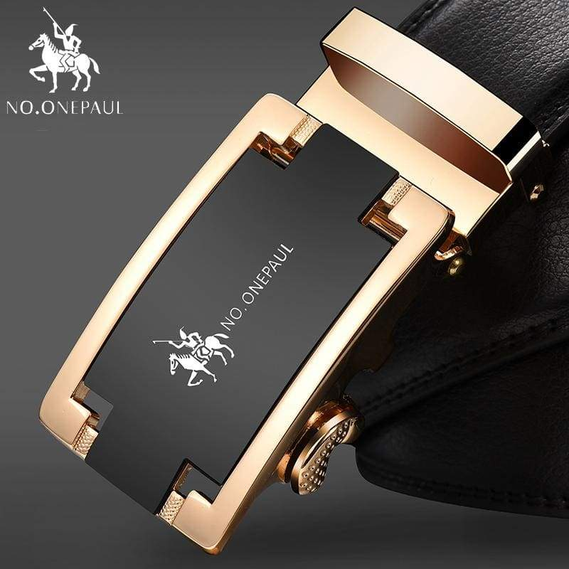 NO.ONEPAUL Automatic Buckle Genuine Leather Belts - FA Gold / 100cm