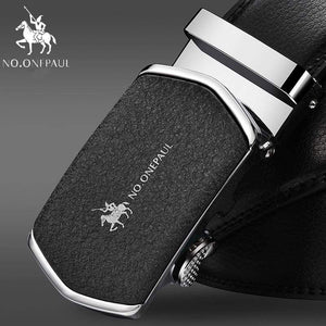 NO.ONEPAUL Automatic Buckle Genuine Leather Belts - S MO SHA / 100cm