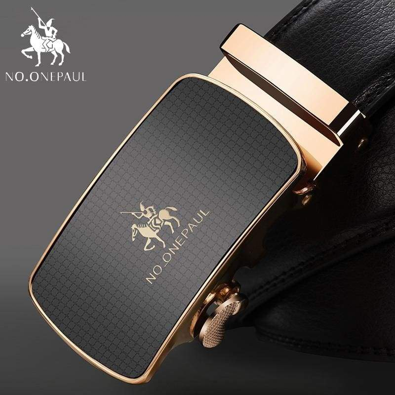 NO.ONEPAUL Automatic Buckle Genuine Leather Belts - YA Gold / 100cm