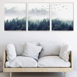 Nordic Forest Landscape Print Canvas Painting 3PCS/Set