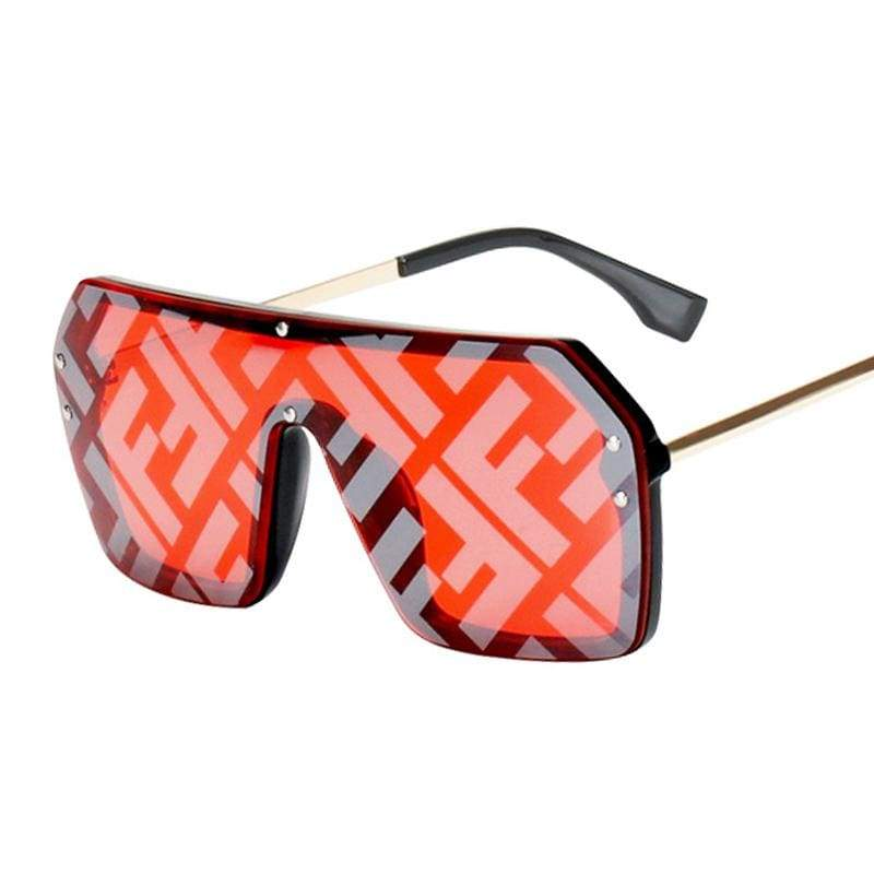 Oversize One Piece Square Sunglasses
