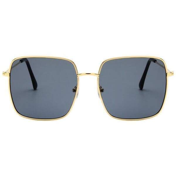 Oversized Square Sunglasses - Gold gray
