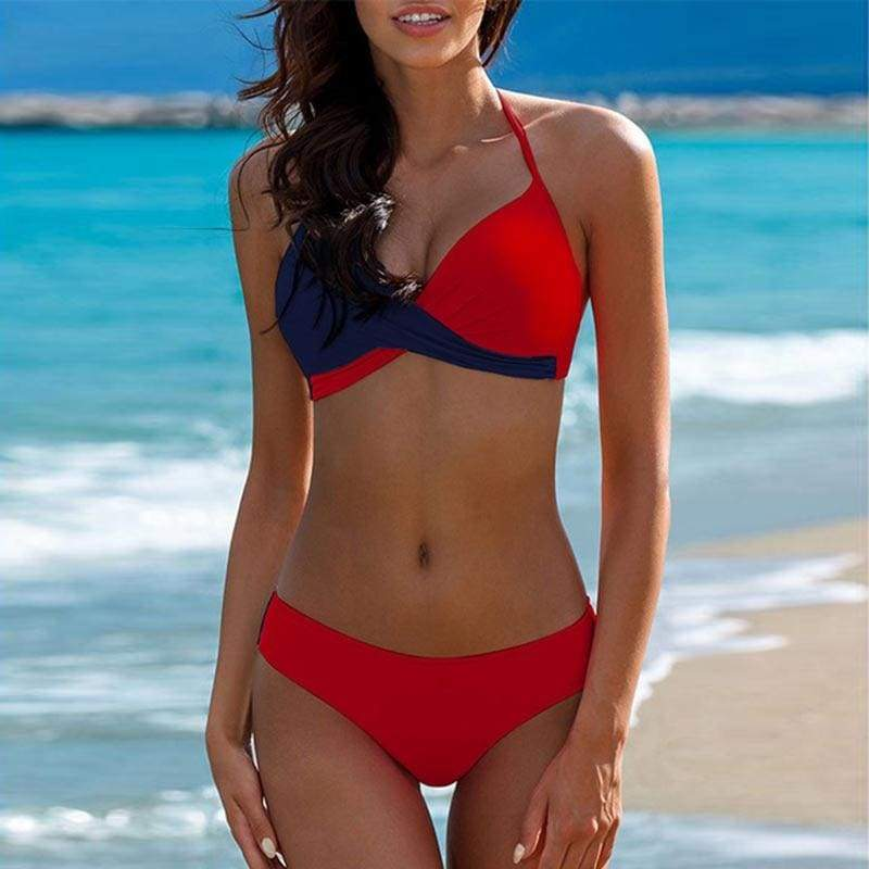 Push Up Halter Brazilian Two Piece Bikini Swimsuit