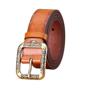 Retro Embossed Womens Belt