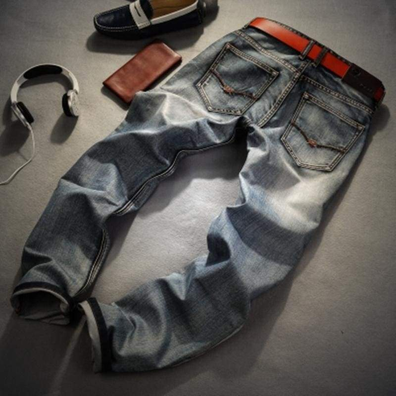 Retro Nostalgia Straight Denim Jeans