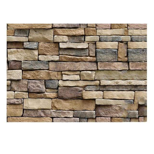 Rustic Brick Stone Self-adhesive 3D Decorative Wall Decals - A