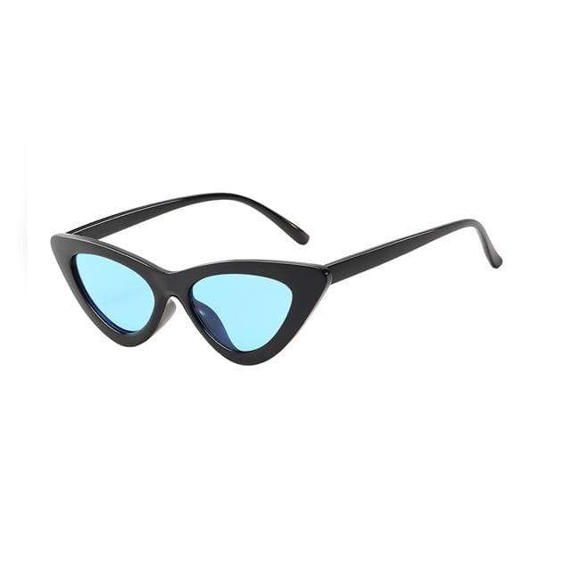 Sexy Cat Eye Sunglasses - Black Clear blue