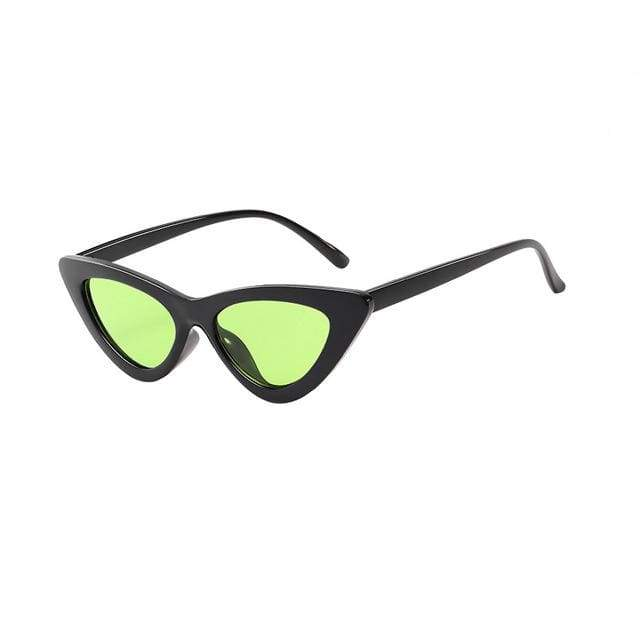 Sexy Cat Eye Sunglasses - Black Clear green