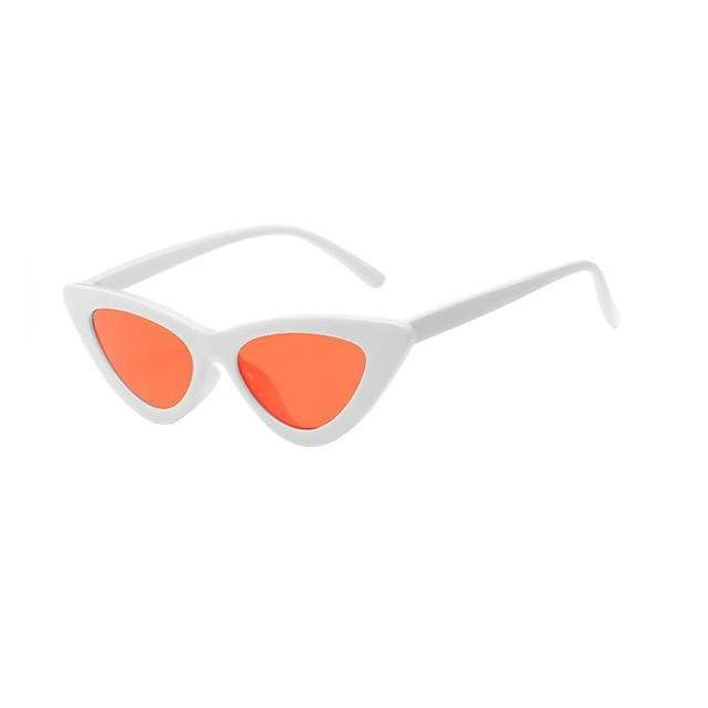 Sexy Cat Eye Sunglasses - White Clear red
