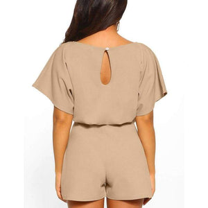 Short Sleeve O Neck Jumpsuit