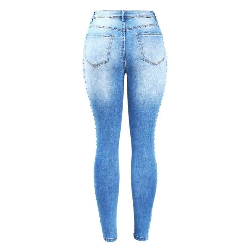 Stretchy Distressed Denim Skinny Jeans