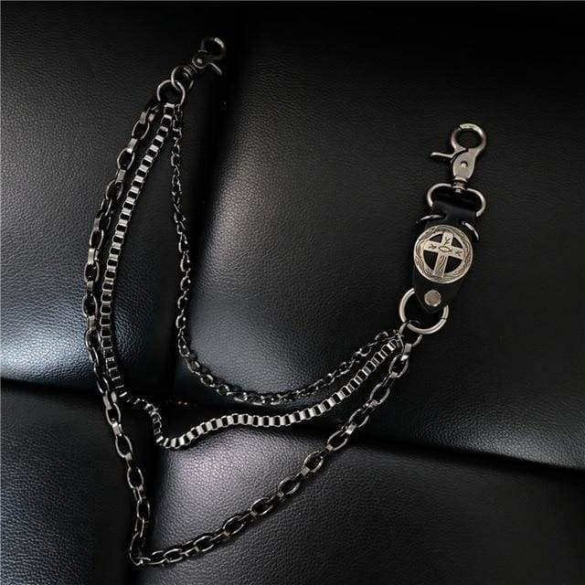 Trendy Silver Metal Waist Chain Belt - 013B