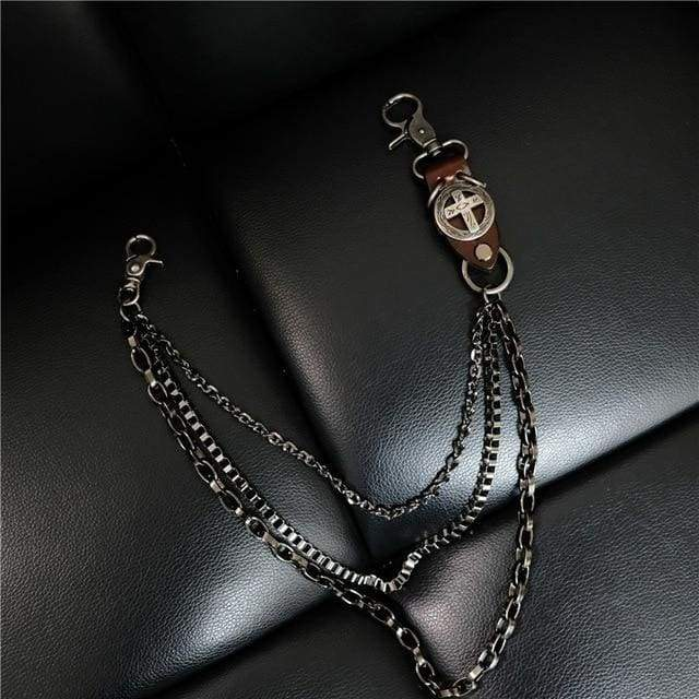 Trendy Silver Metal Waist Chain Belt - 013C