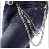 Trendy Silver Metal Waist Chain Belt - 02