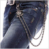 Trendy Silver Metal Waist Chain Belt - 03B