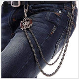 Trendy Silver Metal Waist Chain Belt - 03C