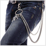 Trendy Silver Metal Waist Chain Belt
