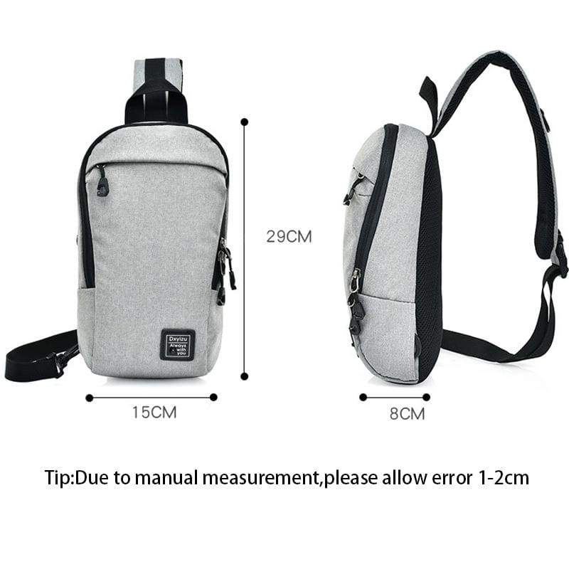 Unisex Anti Theft Canvas Crossbody Backpack
