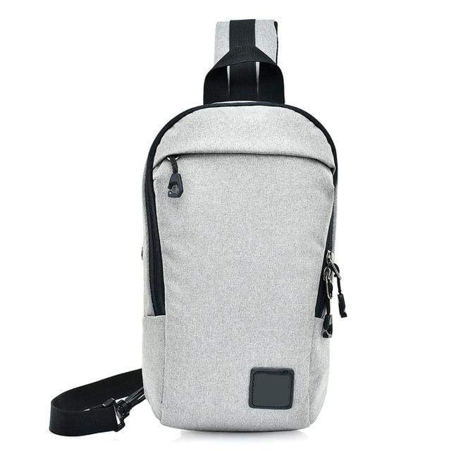 Unisex Anti Theft Canvas Crossbody Backpack - White