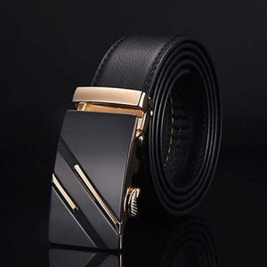DWTS Luxury Automatic Buckle Leather Belts - NE305 gold / 105cm 29to31 Inch