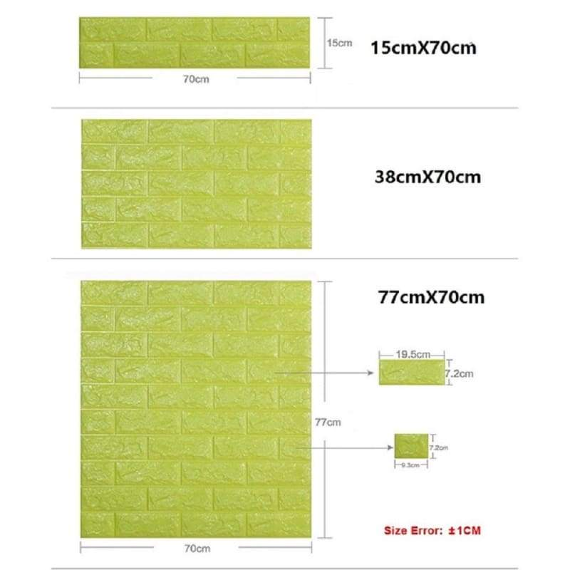 Waterproof Self Adhesive 3D Brick Wall Stickers