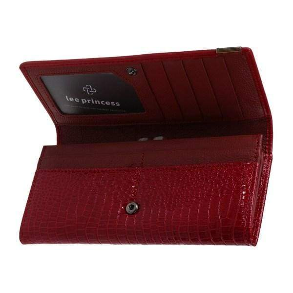 Womens Genuine Leather 3D Embossing Alligator Wallet