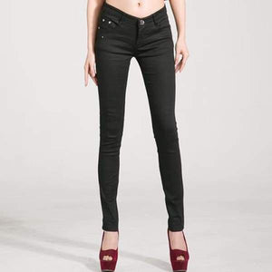 Womens Stretch Denim Skinny Jeans